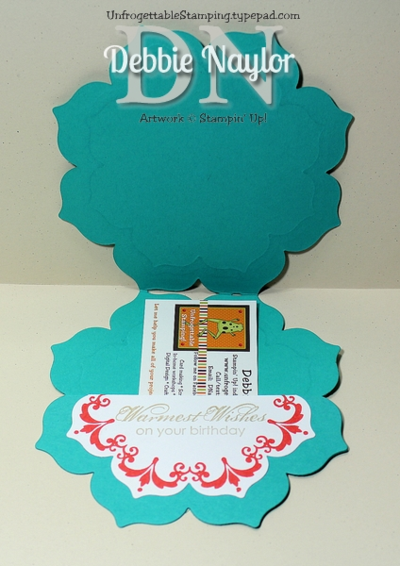 Unfrogettable Stamping | Fabulous Friday Flowery Daydream bundle gift card holder
