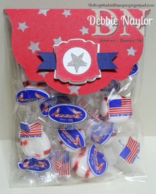 Unfrogettable Stamping | 4th of July candy favor