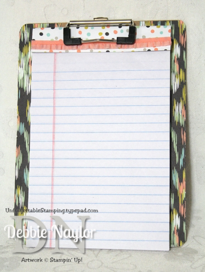 Unfrogettable Stamping | Sweet Sorbet Fabulous Friday altered mini clipboard 2014-01-24