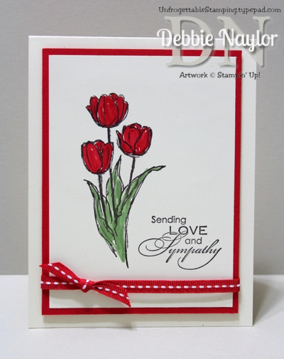 Unfrogettable Stamping | Blessed Easter sympathy card 2014-01-27
