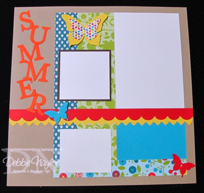Unfrogettable Stamping | Summer scrapbook layout 2014-02-12