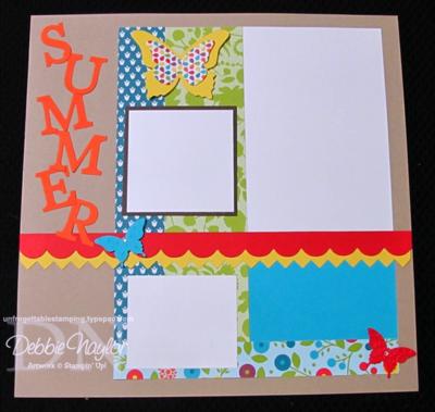 Unfrogettable Stamping | Summer scrapbook layout 2014-02-12