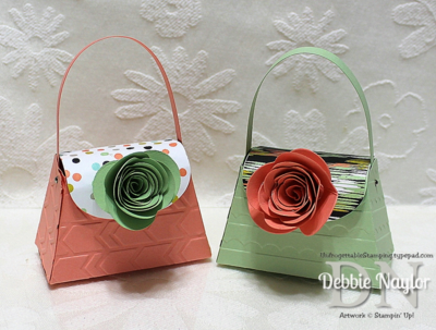 Unfrogettable Stamping | Fabulous Friday spiral flower purse favors 2014-03-07