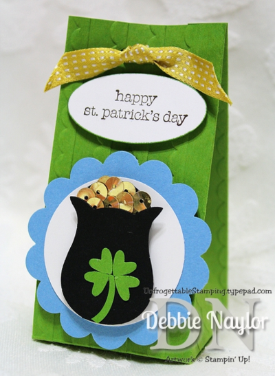 Unfrogettable Stamping | Fabulous Friday St. Patrick's Day candy favor 2014-03-14