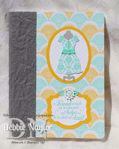 Unfrogettable Stamping | Eastern Elegance Dress Up altered composition notebook