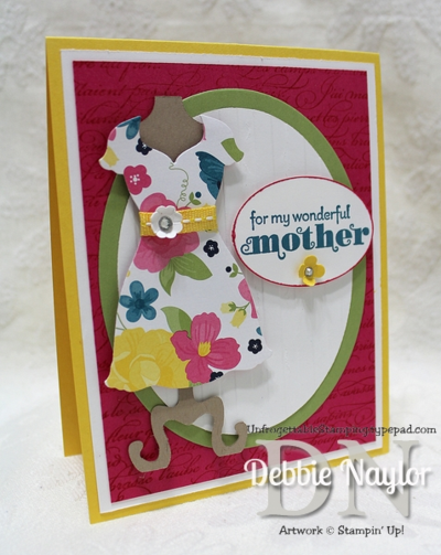 Unfrogettable Stamping | Fabulous Friday Mothers Day Dress Up card 2014-04-25