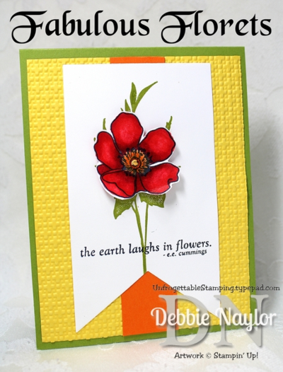 Unfrogettable Stamping   Fabulous Friday retiring Fabulous Florets and Blendabilities all-occasion card 2014-05-16