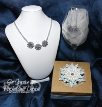 Unfrogettable Stamping   2013 Week 4 Blue Frosted Snowflake jewelry set tutorial