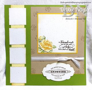 Unfrogettable Stamping Progressive scrapbook layout 1