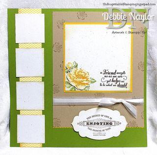 Unfrogettable Stamping Progressive scrapbook layout 1