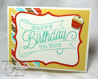 Unfrogettable Stamping | Quick & Easy birthday card featuring Another Great Year and Retro Fresh DSP