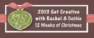 Unfrogettable Stamping | Get Creative with Rachel & Debbie 2013 Twelve Weeks of Christmas tutorials