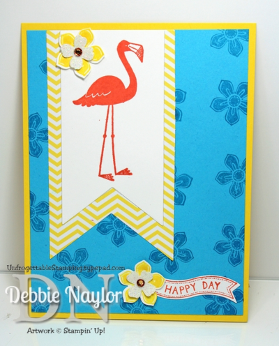 Unfrogettable Stamping | Flamingo Lingo birthday card