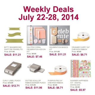 Unfrogettable Stamping | Weekly Deals July 22-28, 2014