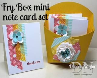 Unfrogettable Stamping Fry Box mini note card set