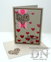 Unfrogettable Stamping QE Groovy Love birthday card