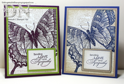 Unfrogettable Stamping | CAS Swallowtail sympathy cards set