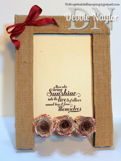 Unfrogettable Stamping | Fabulous Friday altered vintage floral picture frame 2014-08-15
