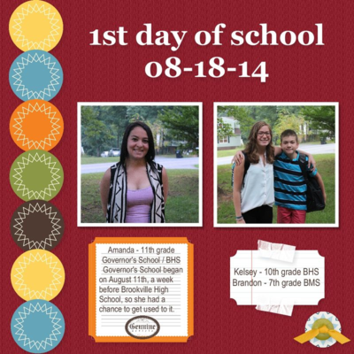 Unfrogettable Stamping | Fabulous Friday Back to School 2014 MDS layout