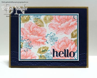 Unfrogettable Stamping SULDCC2 Hello Stippled Blossoms