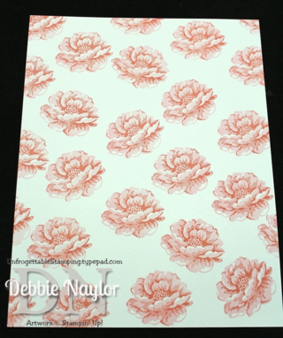 Unfrogettable Stamping | Stippled Blossoms one sheet wonder step 2