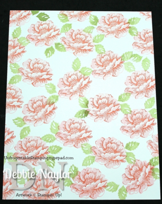 Unfrogettable Stamping | Stippled Blossoms one sheet wonder step 3