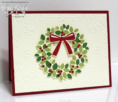 Unfrogettable Stamping | Wondrous Wreath Christmas card outside