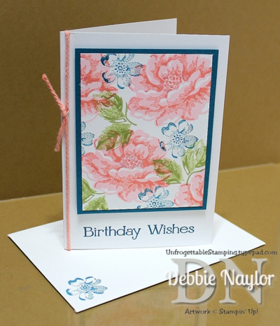 Unfrogettable Stamping | 2014-09-02 QE Stippled Blossoms birthday card