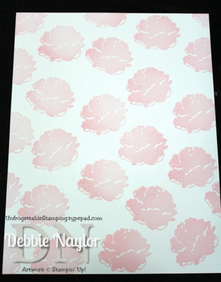 Unfrogettable Stamping | Stippled Blossoms one sheet wonder step 1