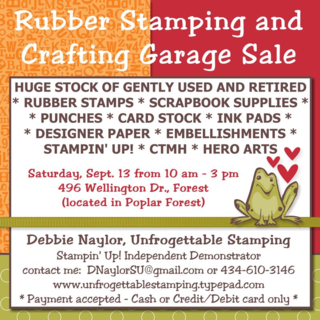 Unfrogettable Stamping | Rubber Stamping and Craft Sale 9-13-14