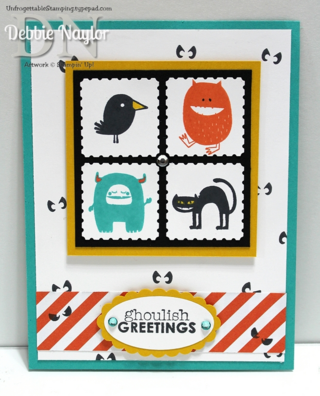 Unfrogettable Stamping | Freaky Friends Halloween card