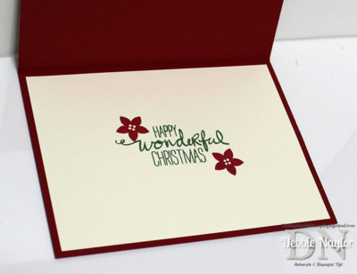 Unfrogettable Stamping | Wondrous Wreath Christmas card inside