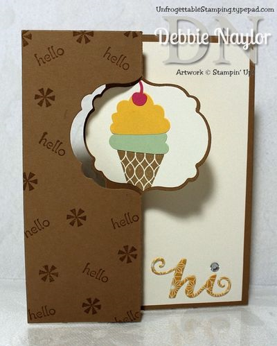 Unfrogettable Stamping | Fabulous Friday fun fold card created with the Label Card Thinlits die