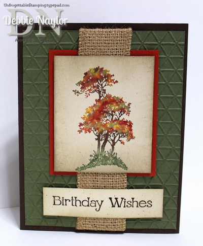 Unfrogettable Stamping   Fabulous Friday Serene Silhouettes masculine birthday card