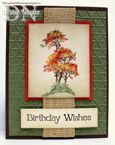 Unfrogettable Stamping | Fabulous Friday Serene Silhouettes masculine birthday card