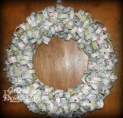 Unfrogettable Stamping | 2014 GCRD Week 2 Curled DSP Wreath tutorial