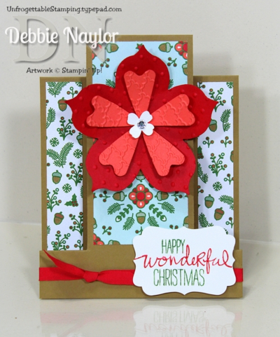 Unfrogettable Stamping | Fabulous Friday Nordic Noel center step fun fold card