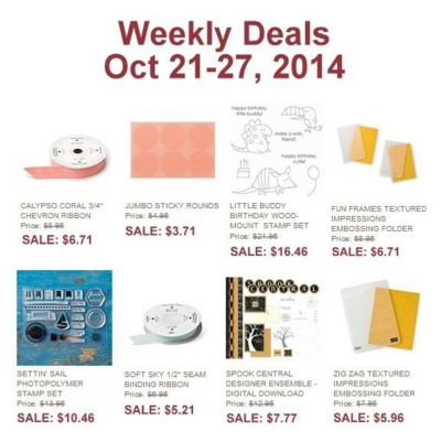 Unfrogettable Stamping | Stampin' Up! Weekly Deals for Oct 21-27 - save 25% off!!