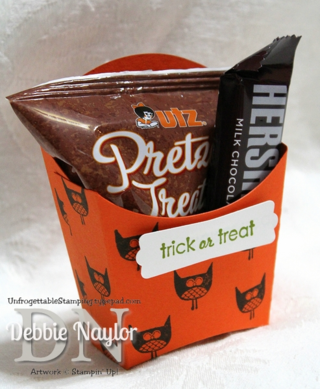 Unfrogettable Stamping   Fabulous Friday Fry Box Halloween Treat
