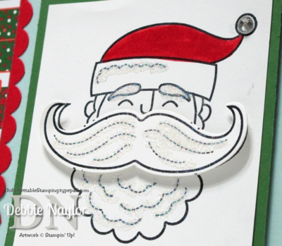 Unfrogettable Stamping | QE Christmas Week 5 Nordic Santa Stache card