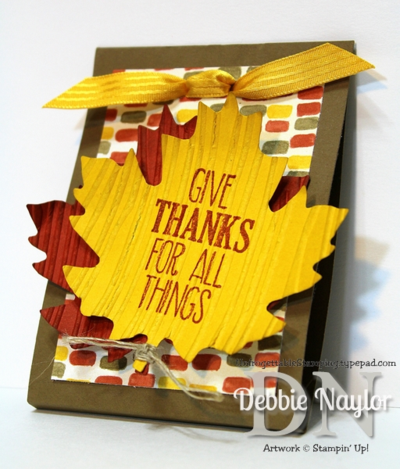 Unfrogettable Stamping | Fabulous Friday Thanksgiving Favor