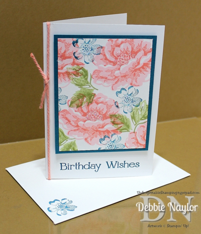 Unfrogettable Stamping | Video:  Quick & Easy Stippled Blossoms birthday card featuring two-step stamping with the Stamp-a-ma-jig tool