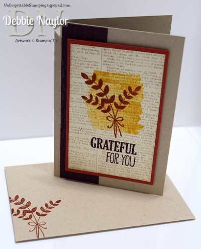 Unfrogettable Stamping | QE For All Things thank you card video tutorial 2014-09-09