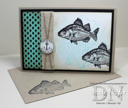 Unfrogettable Stamping | Quick & Easy By the Tide masculine card 2014-07-29