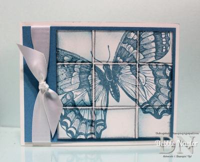 Unfrogettable Stamping | Fabulous Friday Swallowtail Delft Tile card