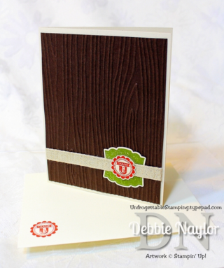 Unfrogettable Stamping | QE masculine thank you card