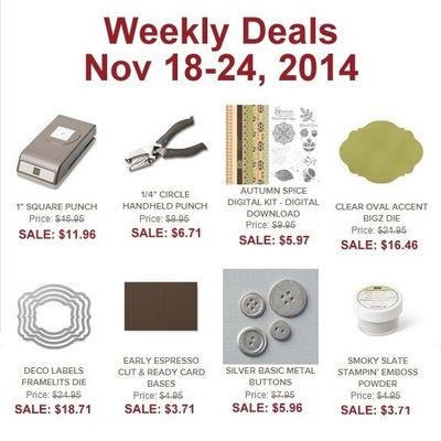 Weekly Deals Nov 18-24