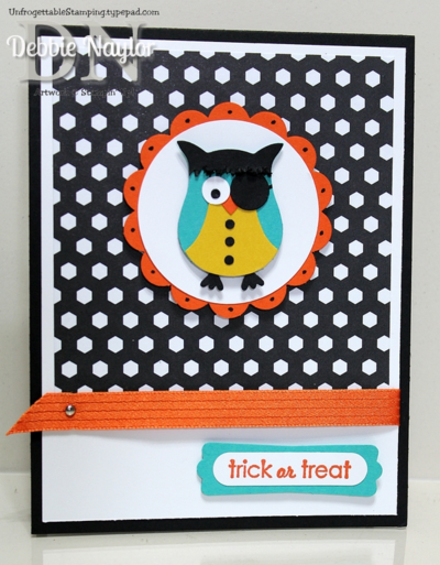 Unfrogettable Stamping | Fabulous Friday Owl punch art Halloween card 2014-10-03