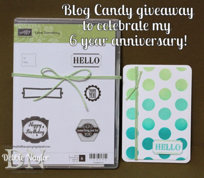 Unfrogettable Stamping | 6 year blogaversary blog candy giveaway
