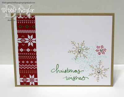 Unfrogettable Stamping | QE Christmas Week 4 Endless Wishes card